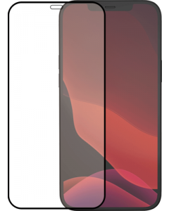 Azuri Tempered Glass flat RINOX ARMOR - black frame - for iPhone 12 mini FG