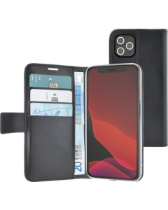 Azuri walletcase with magnetic closure & cardslots - black - iPhone 12/12 Pro