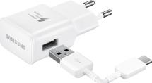 universele USB-C thuislader + datakabel - white - snel laden (15W)