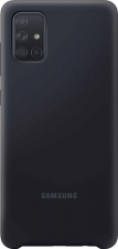 Samsung silicone cover - black - for Samsung Galaxy A71