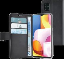 Azuri walletcase magnetic closure & cardslots - black - Samsung A71