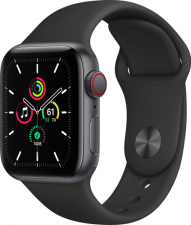 Watch SE Cellular 40mm Space Gray Black Sport Band