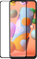 Azuri Tempered Glass flat RINOX ARMOR - black frame - for Samsung A12/A32