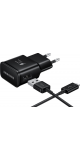 universele micro USB thuislader + datakabel - black - snel laden